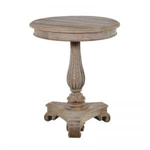 Hawford Round Wooden Side Table
