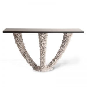 Porta Romana Mussel Shell Console Table